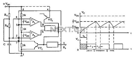 Astable Multivibrator Circuit Diagram Under