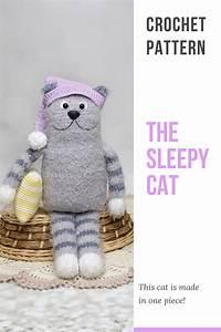 Sleepy Cat Crochet Pattern  Amigurumi Crochet Pattern Cat