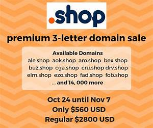 snag a premium shop 3 letter domain for 80 off this october With available 3 letter domain names