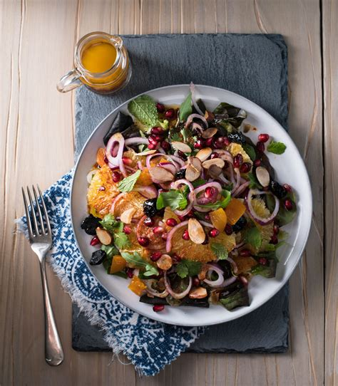 moroccan orange  pomegranate salad sa garden  home