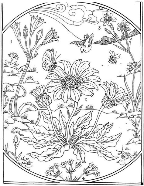 garden coloring page coloriage coloring pages adult