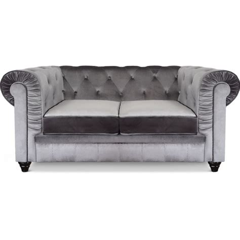 canapé chesterfield velours canapé 2 places chesterfield velours pas cher déco
