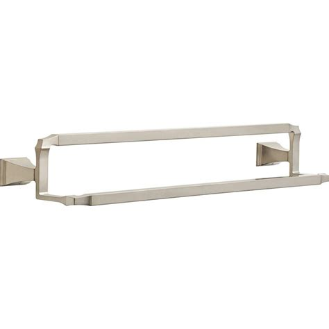 delta towel bars delta dryden 25 in towel bar in stainless 75125 ss