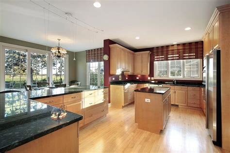 Kitchen Table And Island Combinations - 52 enticing kitchens with light and honey wood floors pictures