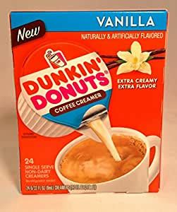 The small cups size is called small and larger sizes come labelled as large or extra large. Dunkin Donuts, Single Serve Non-Dairy Creamers, Vanilla, 24 Count, 6.75oz Box (Pack of 2 ...