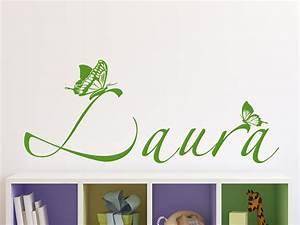 Wandtattoo Kinderzimmer Schmetterlinge : wandtattoo schmetterlinge mit wunschname von ~ Sanjose-hotels-ca.com Haus und Dekorationen