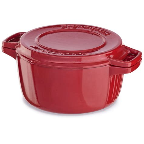 Kitchenaid Grill Panini by Kitchenaid Kci10gper Cast Iron Grill And