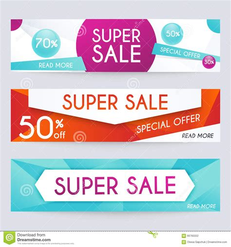 set of sale banners design sale paper banner sale and discount stock vector image 66765552