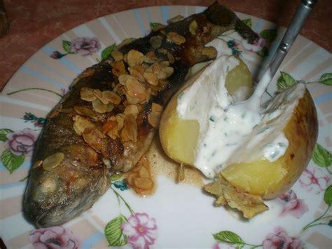 pommes de terre robe de chambre truites aux amandes et pommes de terre en robe des chs