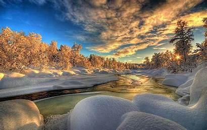 Hdr Sunrise Winter Background Desktop Backgrounds Wallpapers