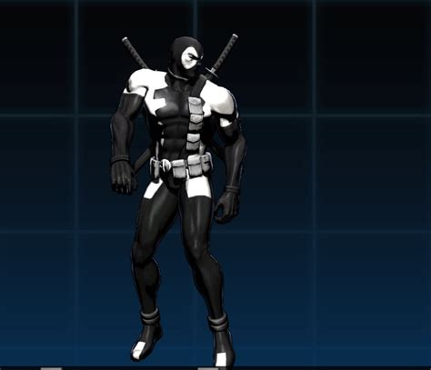 back in black symbiote deadpool ultimate marvel vs capcom