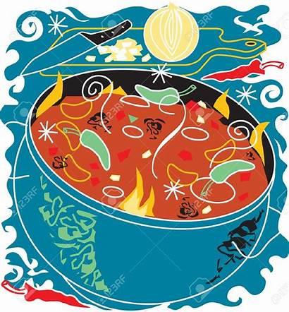Clipart Chili Chile Pot Soup Clip Bowl
