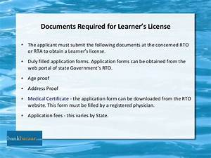Ppt on driving license for Documents upload for learning licence