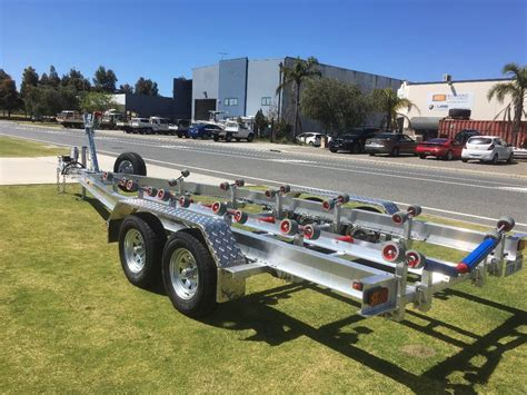 Boat Trailers For Sale by Tandem Axle Aluminium Boat Trailer With Wobble Roller Set