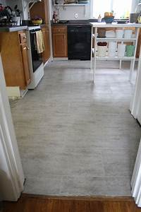 tile kitchen floor Tips For Installing A Kitchen Vinyl Tile Floor   merrypad
