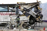 Tour Bus Crashes Into Truck, Killing 13 on California ...