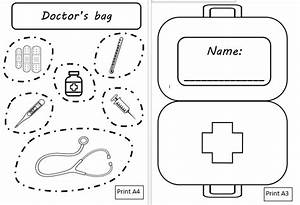 doctor bag craft template 28 images doctor s bag with With doctor bag craft template