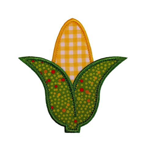 applique design corn cob applique machine embroidery design pattern in 4 sizes