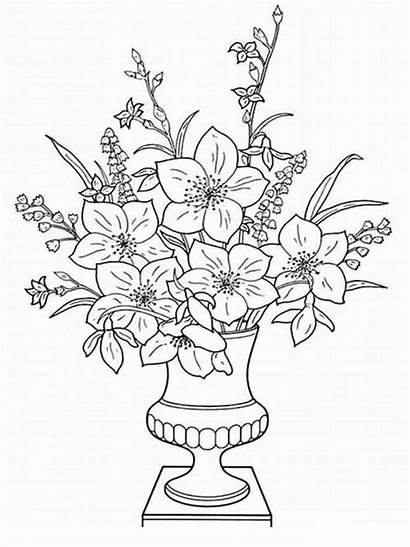 Flores Dibujos Colorear Jarron Vase Blumen Ausmalbilder