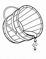 Bucket Coloring Water Pages Spilling Drawing Drop Fountain Colouring Outline Template Sheet Printable Getdrawings Bottle Place Utilising Button Getcolorings Sketch sketch template
