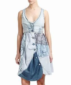 trop robe en jean patch vendre desigual denim by With robe boule desigual