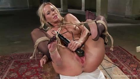 Busty Blonde Mom In Stockings And Suspender Adores Hard