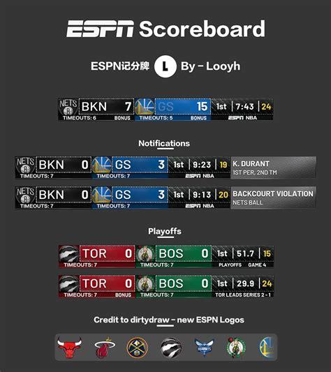 NBA 2K19 - NEW ESPN SCOREBOARD + LOGOS BY LOOYH ...