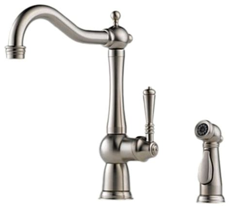 houzz kitchen faucets brizo 61136lf ss tresa stainless steel kitchen faucet with