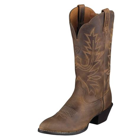 Western Boat by Ariat Womens Heritage R Toe Cowboy Western Boot Distressed