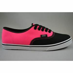 Buy VANS AUTH LP NEON BLACK PINK