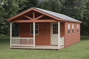 simple outdoor with pre built shed cabin and wrought iron With already built storage sheds