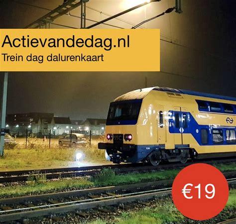 trein dag dalurenkaart met actievandedag goedkoopmetdetreincom