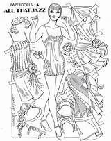 Paper Dolls Coloring Flapper Ventura Charles Printable Adult Convention Especially Pd Done sketch template