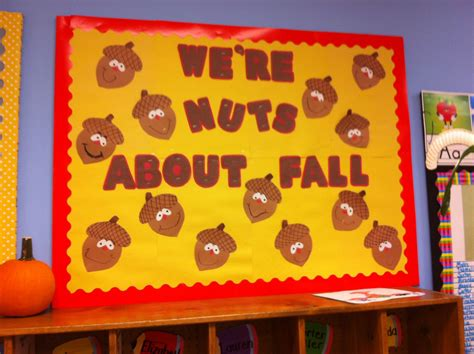 fall bulletin board acorns nuts about fall pre k and 795 | 8678f2b94762600783222a29ea0179bc