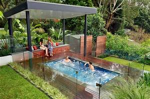 Above Ground Pool With Hot Tub Pool Design Ideas