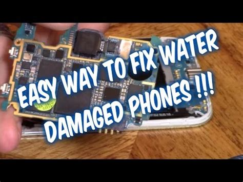 fixing a phone dropped in water samsung galaxy note 2 dropped in water winner skin