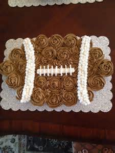 Football Pull Apart Cupcake Cake