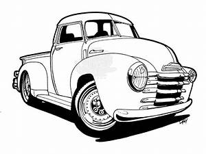 old chevy truck clipart clipground With 1948 ford coupe red