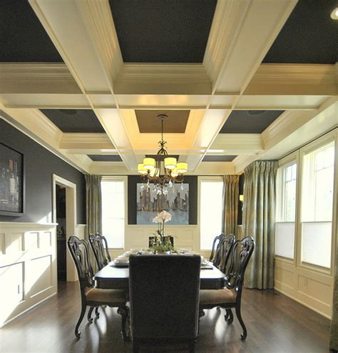 Coffered Ceiling Panels by 13 Gorgeous Rooms With Custom Coffered Ceilings By