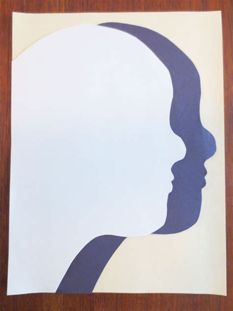 shadow silhouette drawings art lessons kinderart