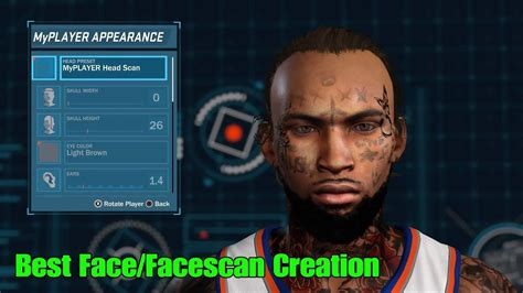 face creation  face scan face tattoo nba