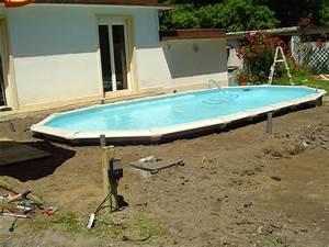 Piscine A Enterrer : piscine hors sol acier semi enterr e ~ Zukunftsfamilie.com Idées de Décoration