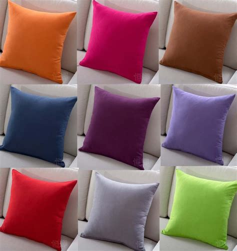 where to buy sofa pillows solid color sofa cushion covers sale red pink purple