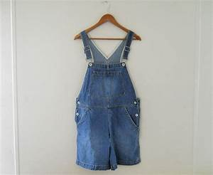 Women Overalls Denim Overall Shorts by SecondhandObsession on Etsy