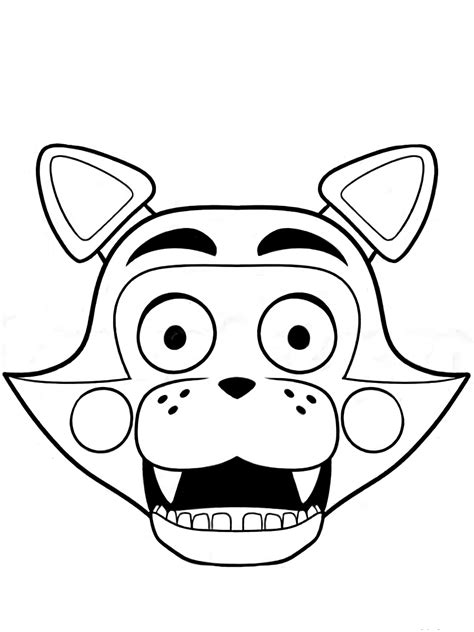 Gmod Fnaf Free Colouring Pages