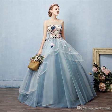 cinderella brand dress 100 grey blue gown royal
