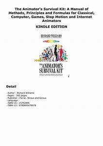 Epub The Animator U0026 39 S Survival Kit  A Manual Of Methods