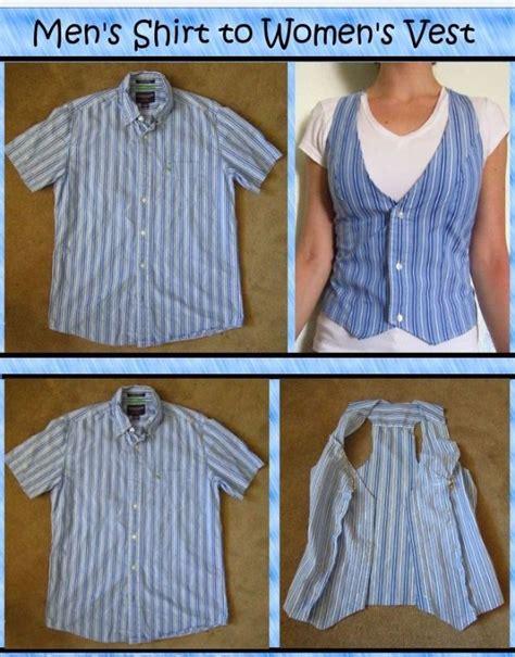 Diy Turn A Mens Shirt Into A Womens Vest Fashion Beauty