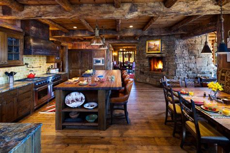 Log Cabin Kitchen Decorating Ideas by 15 Warm Cozy Rustic Kitchen Designs For Your Cabin