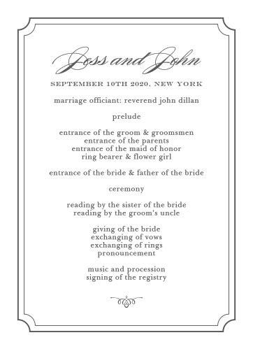 sample wedding reception program flow beloved blog